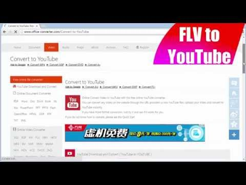 How to Convert FLV to YouTube using Office-Converter.com
