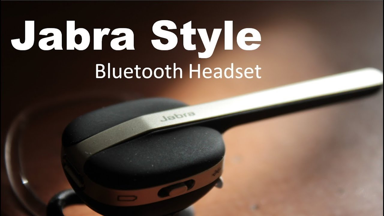 636cbcc3695 Jabra Style Bluetooth Headset - Simple and Elegant - YouTube