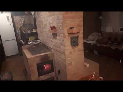 Отопительно варочная печь с сидением - видеоотзыв