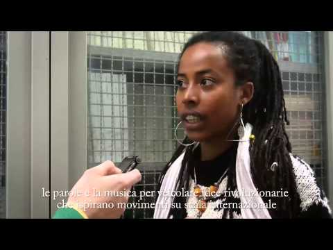 Occupy Pinnacle road to Italy: interview with Donisha Prendergast - live Redemption Song
