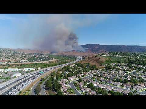 Santa Ana Canyon Fire - 91 Freeway