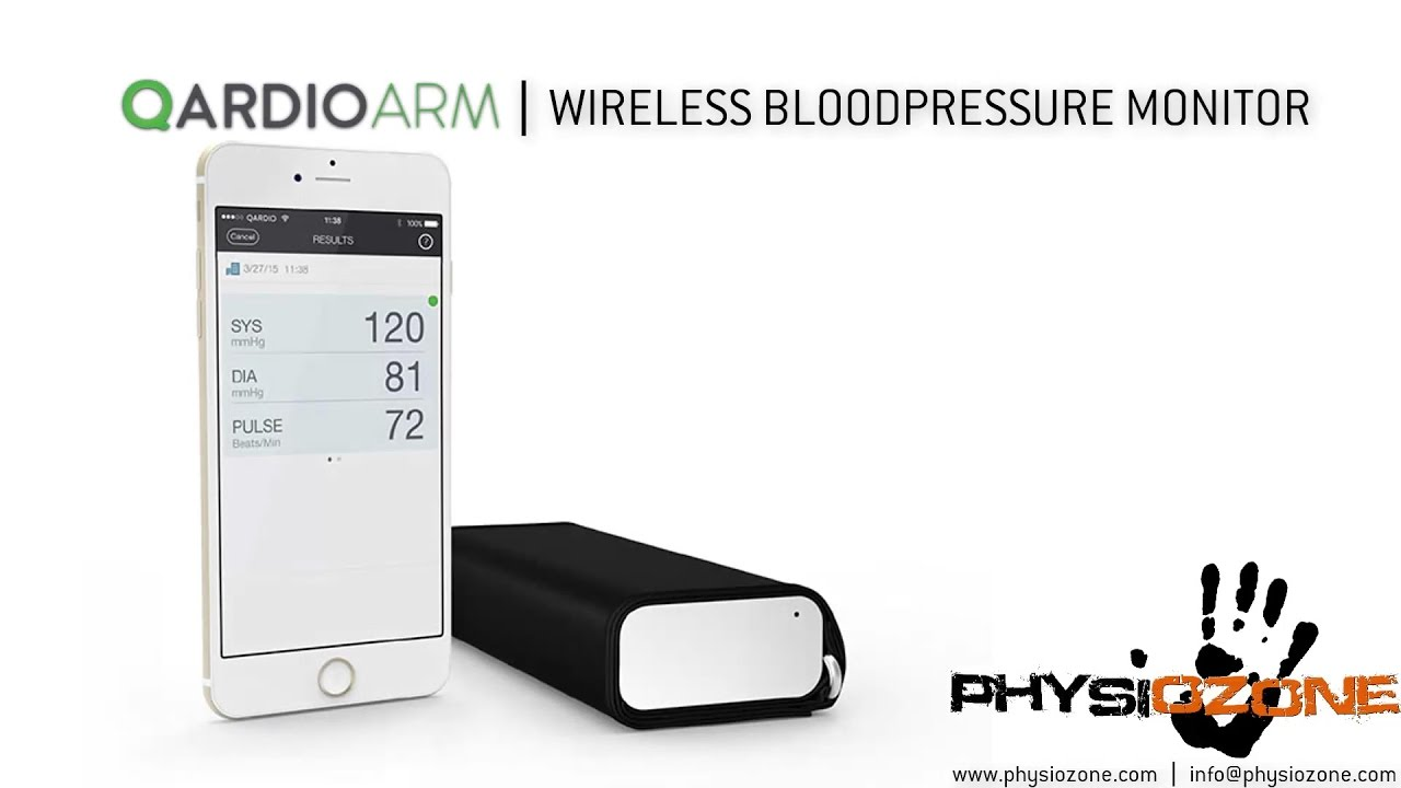 QardioArm Wireless Blood Pressure Monitor - YouTube