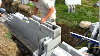 Setting The Foundation On The Construction  Of A Small Garage.