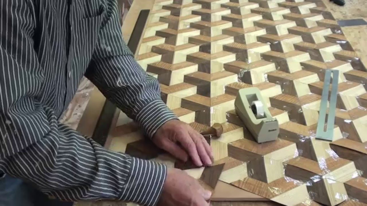 Woodworking Veneer Inlay Youtube