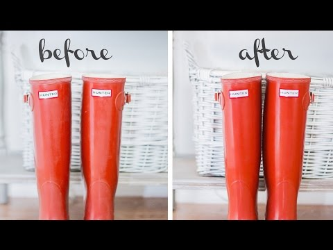 How To Clean & Shine Hunter Boots With Olive Oil