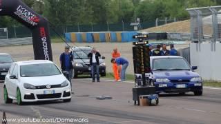 Ford Escort RS Cosworth VS Volkswagen Golf MK6 Turbo Challlenge - Drag racing 1/4 Mile