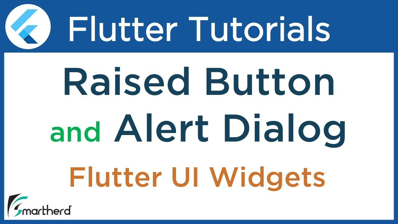 #2 6 Flutter Tutorial using Dart: Raised Button and Alert Dialog Widget (  popup dialog )