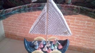 How To Make 3d Origami Boat (candy Tray)