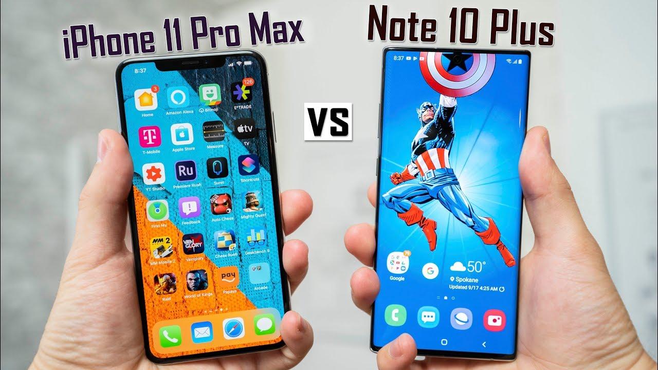 iphone 11 pro max vs samsung note 10 plus