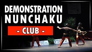 Demo de Nunchaku au Podium des Sports de Bourg en Bresse