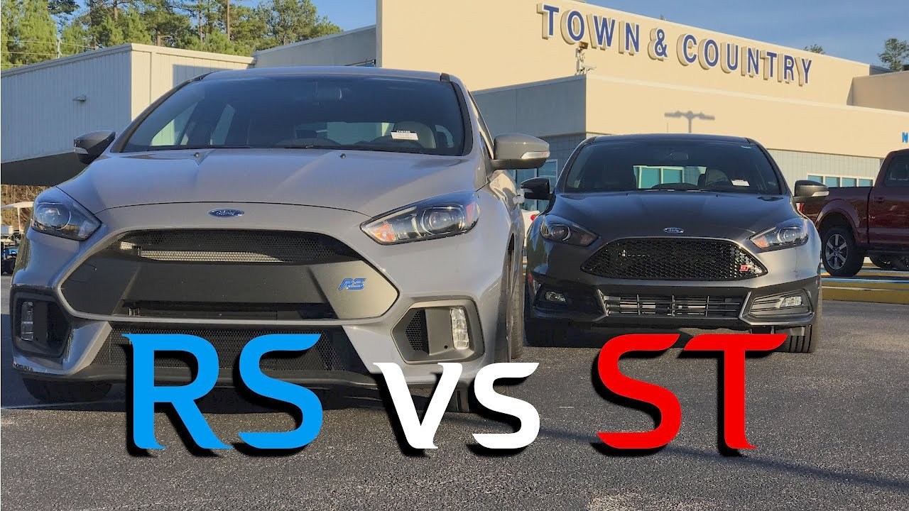 Ford Focus Rs Vs Focus St Review And Comparison Youtube