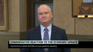 Conservative Leader Erin O'Toole on the fall economic statement – November 30, 2020