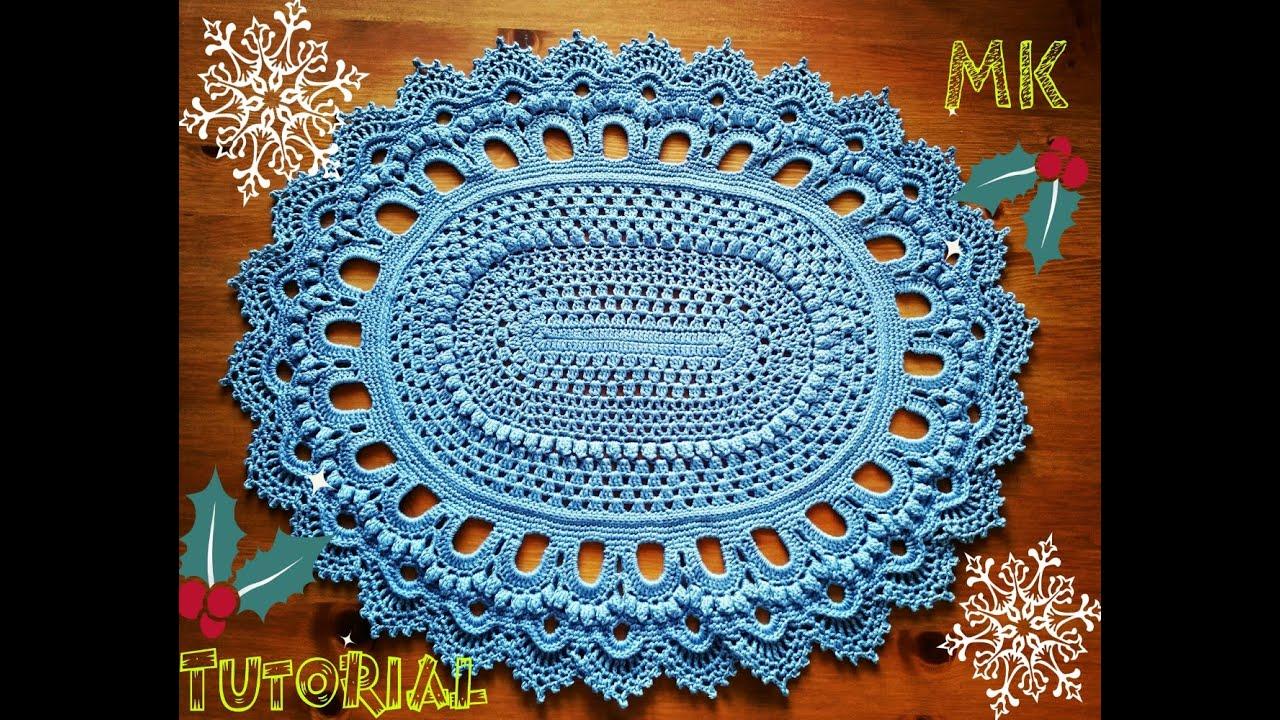 Crochet Rug Patterns For Beginners : ???????? ????? ?? ????? 4 ??? Crochet oval rug for ...