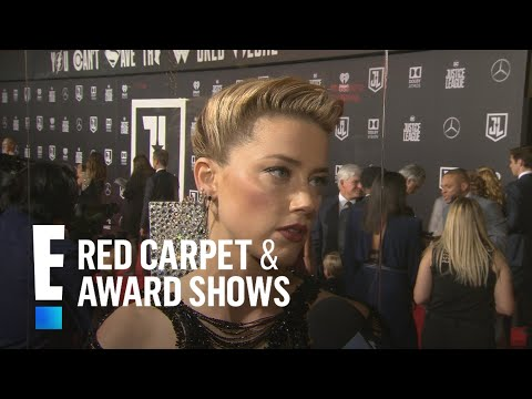"""Amber Heard Teases """"Aquaman"""" at """"Justice League"""" Premiere 