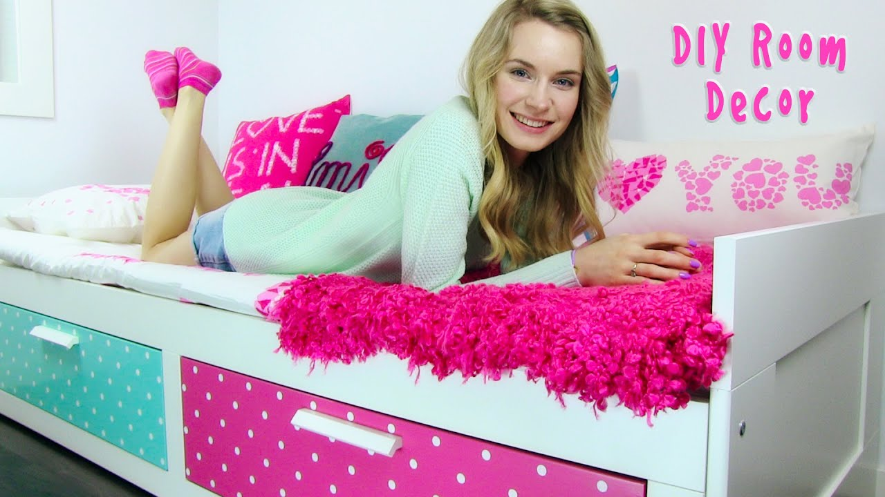 diy room decor 10 diy room decorating ideas for teenagers diy wall decor pillows etc youtube - Diy Room Decor For Teens