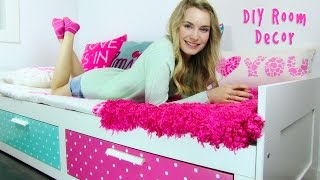 DIY Room Decor! 10 DIY Room Decorating Ideas for Teenagers (DIY Wall Decor, Pillows, etc.)(DIY Room Decor! In this DIY room decor tutorial I show 10 DIY projects on how to decorate your room. In this DIY room decorations video you won't just find ..., 2015-03-23T04:13:21.000Z)