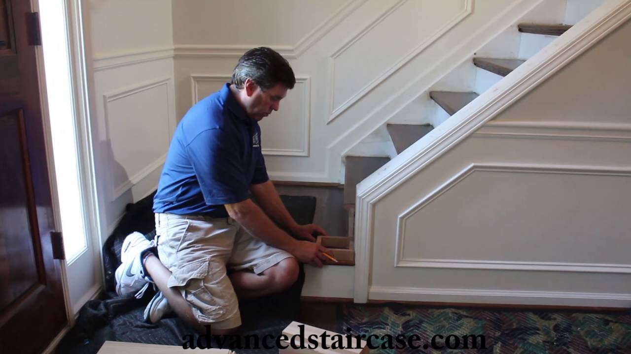 how to install a box newel and handrail knee wall advanced staircase [ 1280 x 720 Pixel ]