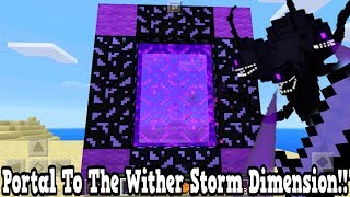 Minecraft Pe - Portal To The Wither Storm DIMENSION - Mcpe Portal To The Wither Storm!!!