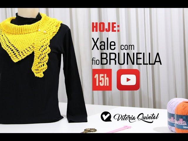 Aprenda a fazer um Xale com fio Brunella Youtube
