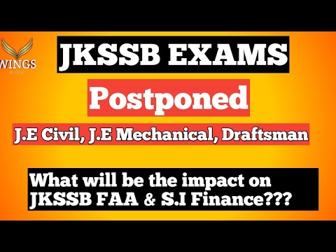 JKSSB EXams Postponed!