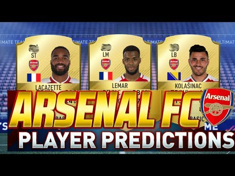 FIFA 18 - ARSENAL PLAYER RATINGS PREDICTIONS ft. LEMAR, LACAZETTE! FIFA 18 ULTIMATE TEAM
