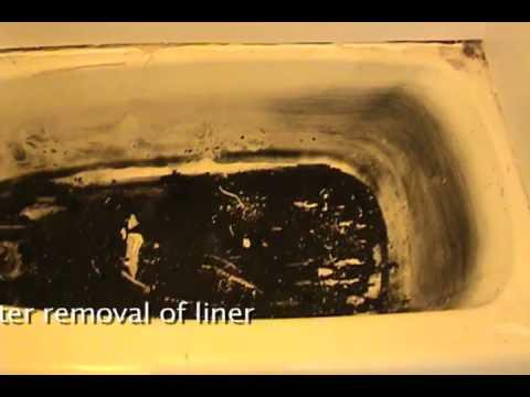 Choose refinishing not bathtub liners youtube for Bathtub liner problems