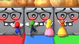 Mario Party 10 MiniGames - Luigi Vs Mario Vs Peach Vs Daisy (Master Cpu)