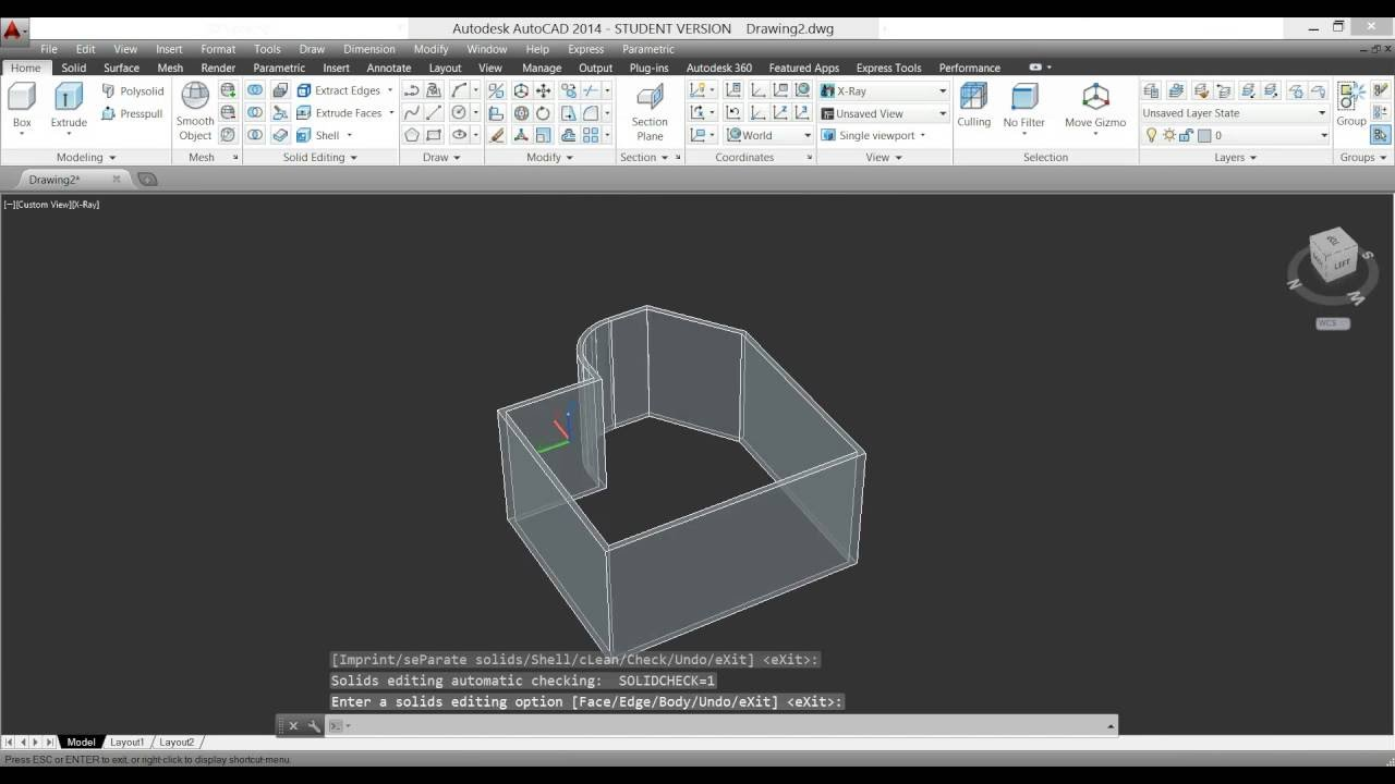 HOW TO DO SHELL COMMAND IN AUTOCAD 3D