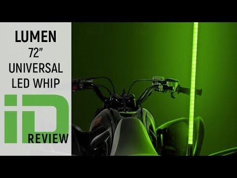 """Lumen 72"""" LED RGB Whip Flag"""