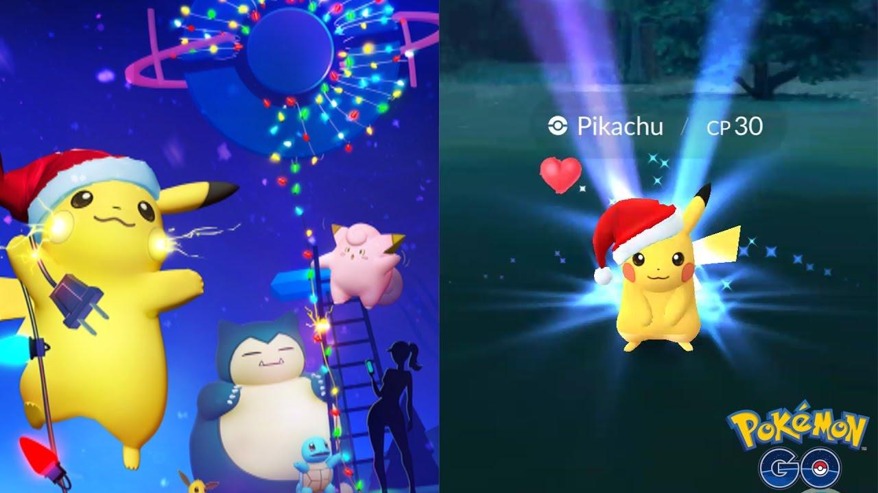 Pikachu EVENT ☆ SANTA CLAUS PIKACHU ☆ Pokémon GO Christmas Event ...