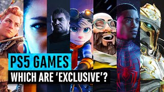 PS5 Reveal | How many games are truly 'EXCLUSIVE'? [4K video]