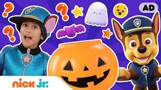 What's in My Halloween Bucket? 🎃 w/ PAW Patrol & Ava! | Nick Jr.