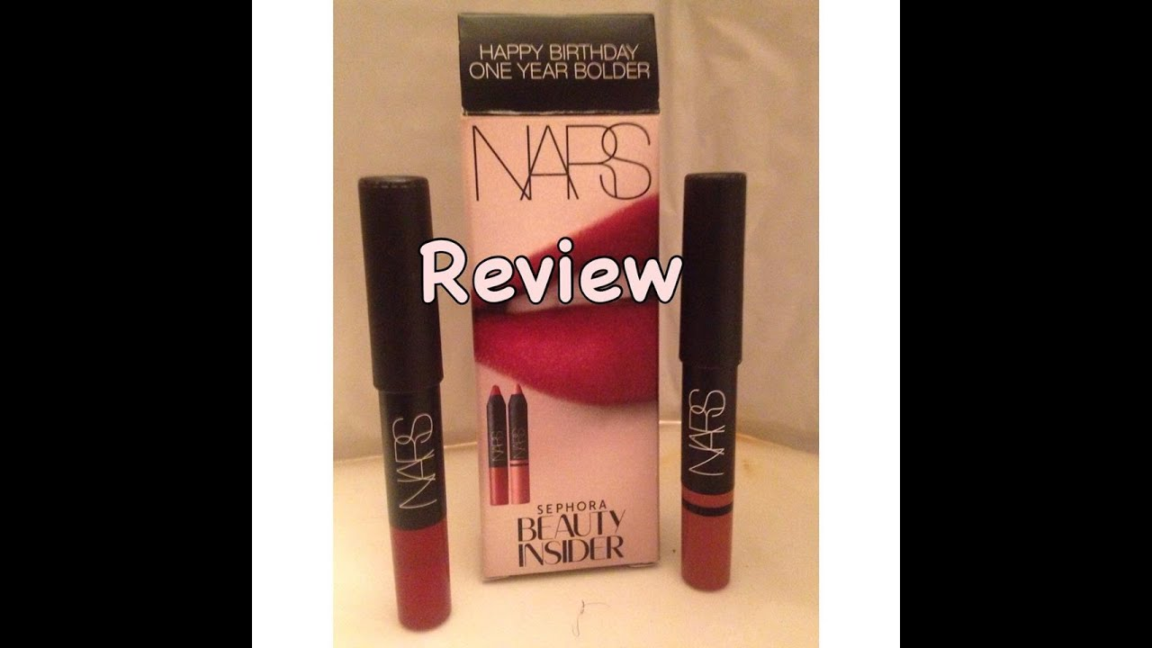 REVIEW Sephora 2015 VIB Gift Nars Lip Pencils