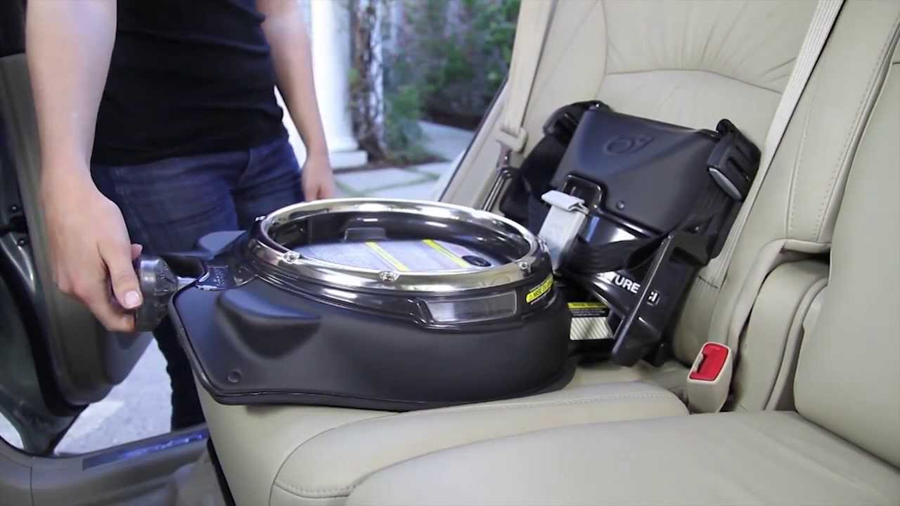 orbit how installing the infant car seat g2 g3 on the car seat base with latch system youtube. Black Bedroom Furniture Sets. Home Design Ideas