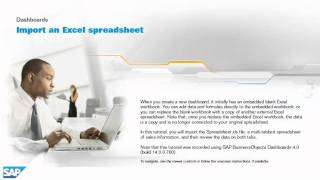 Import an Excel spreadsheet: Dashboards 4.0