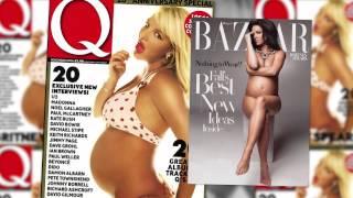 Kim Kardashian & 6 Other Stars Who Posed Nude While Pregnant