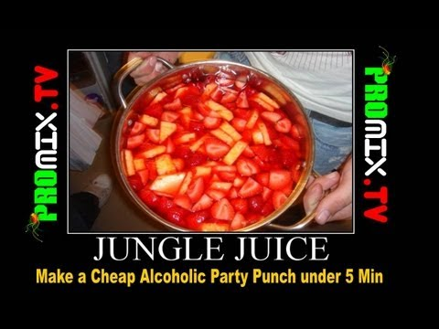 Make a Cheap Alcoholic Party Punch under 5 Min PART 2