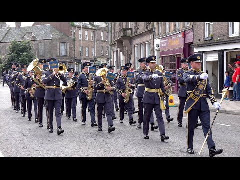 No. II (AC) Squadron Royal Air Force march into Montrose for the Freedom Of Angus celebration 2019