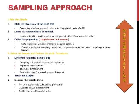 Sampling Approach Steps In Auditing