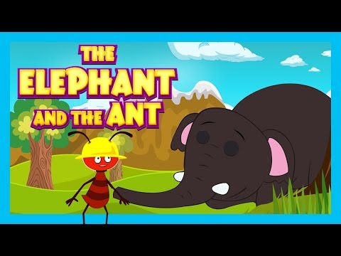 The Elephant And The Ant - Story For Kids|| Bedtime Story And Fairy Tales For Kids -Kids Hut Stories