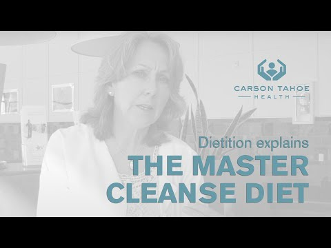 Is a Master Cleanse Diet a Good Way to Lose Weight Carson Tahoe
