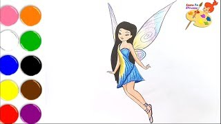 How to draw silvermist from tinkerbell  /coloring pages for kids