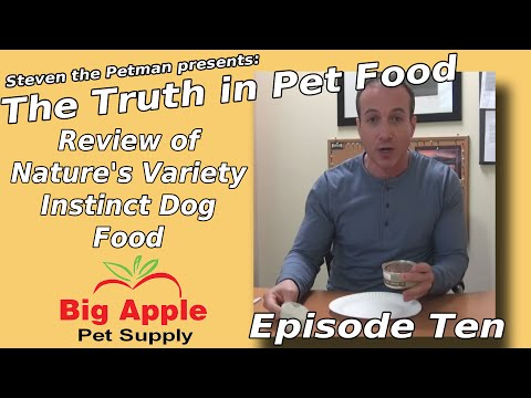 Review of Nature's Variety Instinct Dog Food - Ep10 of Steven the Pet Man: The Truth in Pet Food