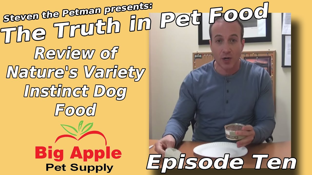 Review Of Natures Variety Instinct Dog Food Ep10 Of Steven The