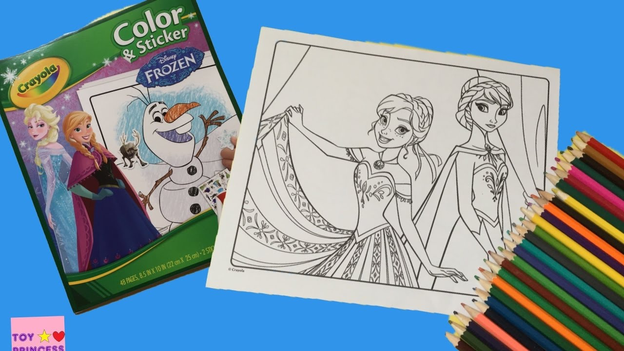 Coloring Pages Disney FROZEN Anna Elsa Book Videos For Children Learning Brilliant Colors