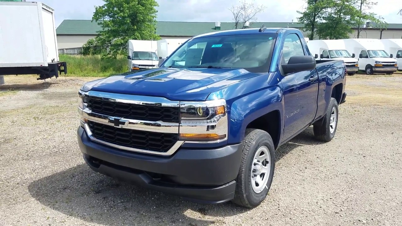 2017 Chevy Silverado 1500 Work Truck Regular Cab Deep Ocean Blue Metallic Full Review