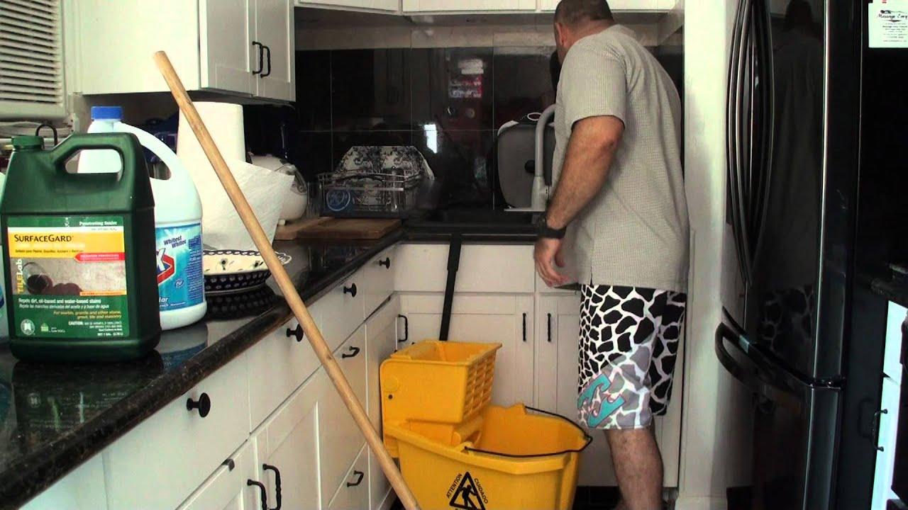 Kitchen Floor Mops September 24 2011 Wet Mop Floor Cleaning Youtube