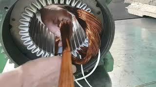 모터수리 (권선의실제) 7.5Kw 4P 36Slot