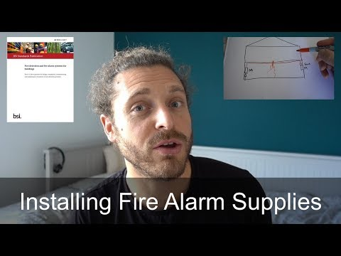 Electricians Installing Fire Alarm Supplies