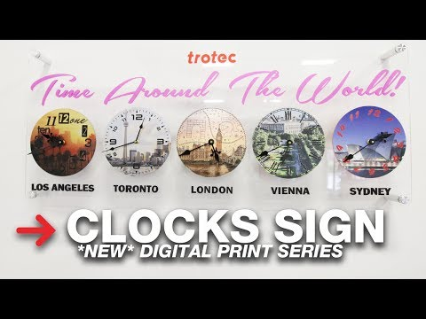 UV Printed And Laser Cut Clocks | Digital Print Series
